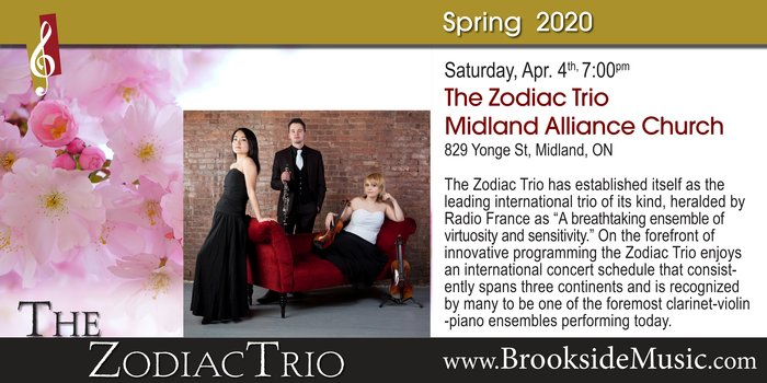 Brookside Music Presents: The Zodiac Trio