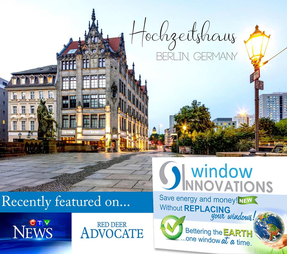 Hochzeitshaus Berlin Germany had 252 windows coated with the liquid glass insulation offered by Windows Innovations.  Improving the efficiency of the windows by 75%